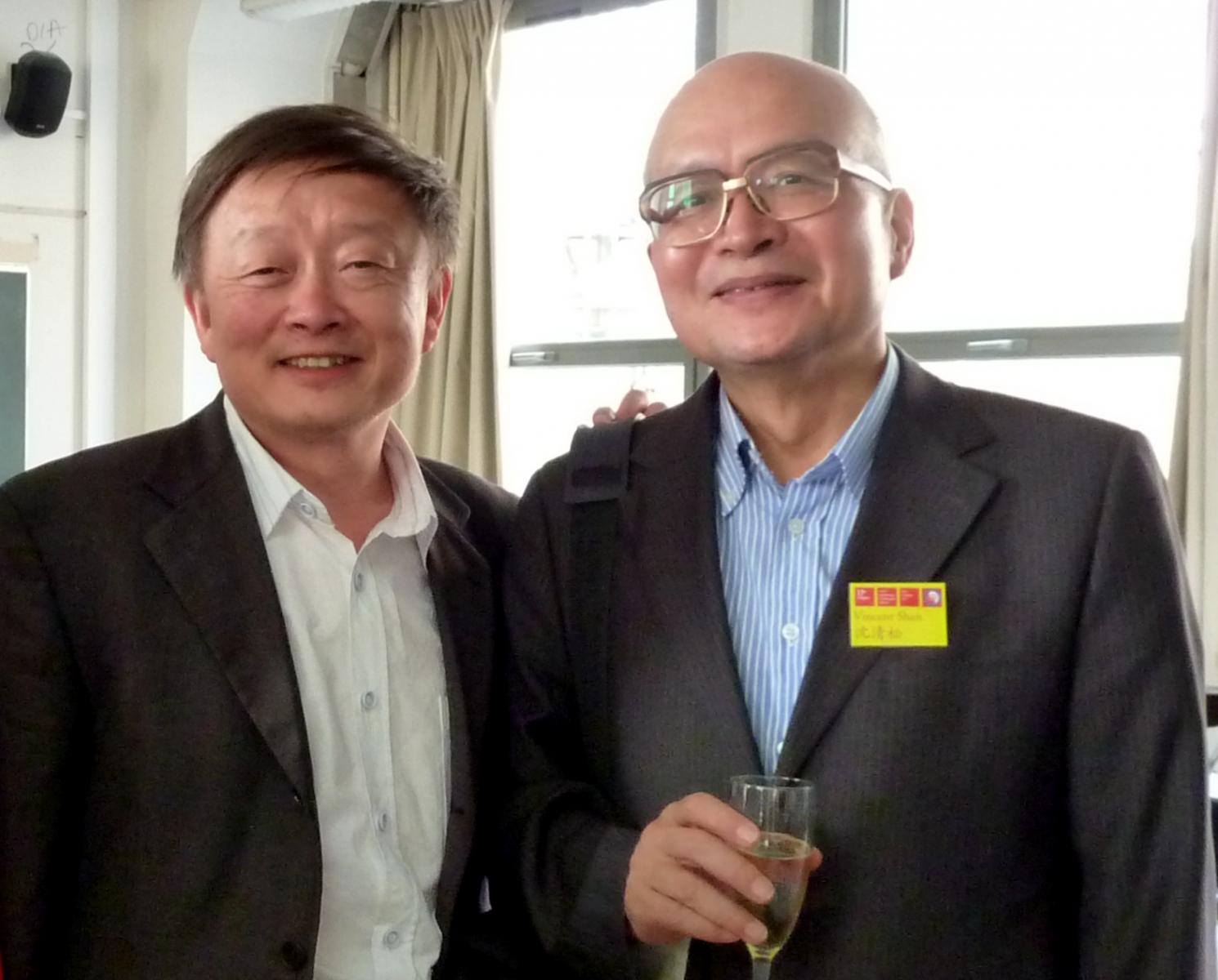 王毅提供沈老師與王毅老師